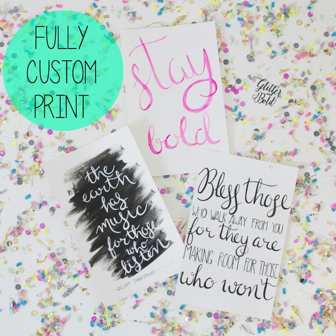 $25 custom hand painted print