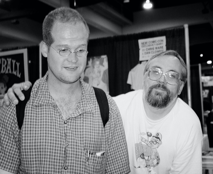 Chris Ware and Kim Thompson at the 1998 San Diego Comic-Con