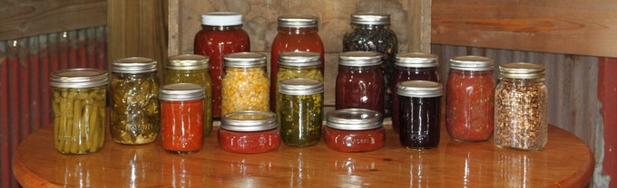 A selection of our homemade canned goods