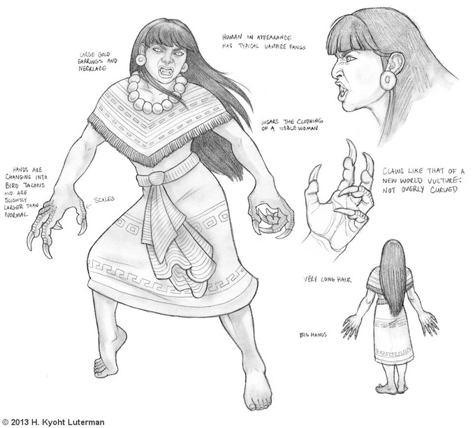 Tlahuelpuchi, Aztec Vampire - $5