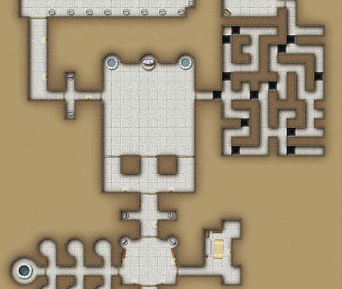 Example of low resolution dungeon map.