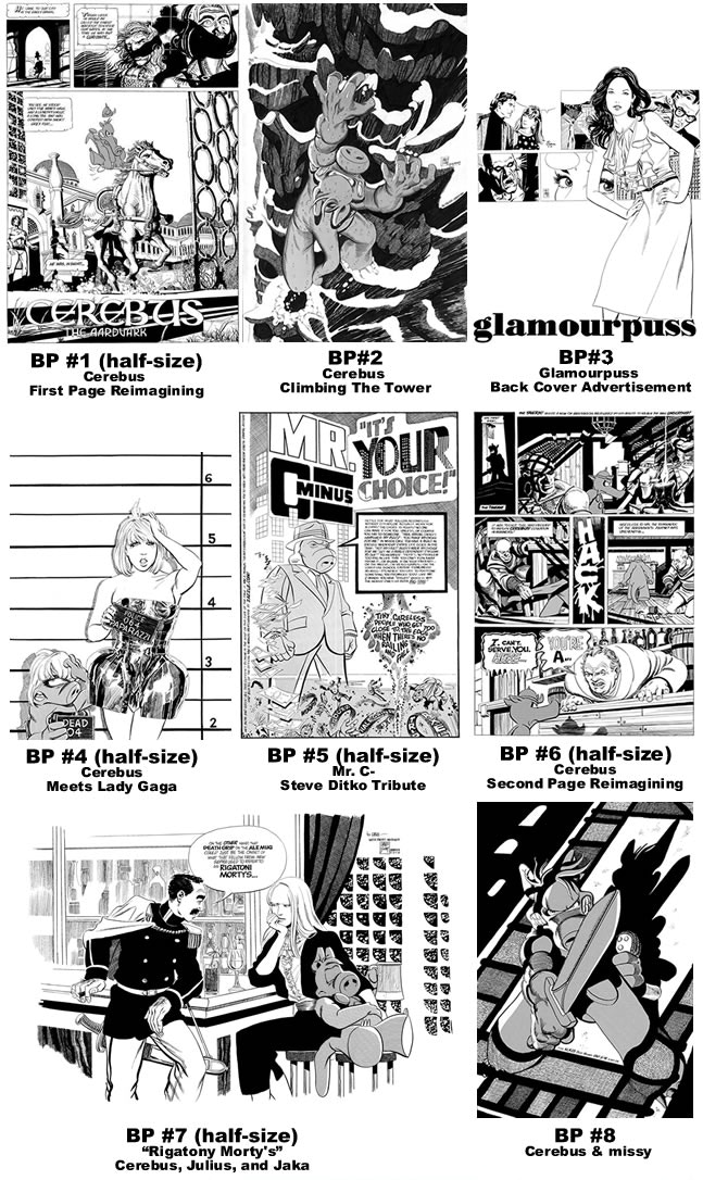 SR Bonus Prints 1-8 [click image and scroll to bottom of page for larger views - from CEREBUS ARCHIVE NUMBER TWO (CANT)]