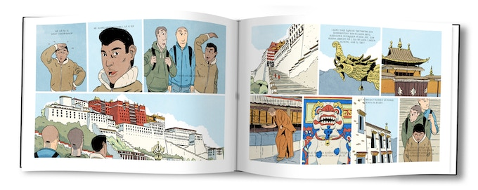 Mock-up of the Graphic Novel Dreams in Thin Air / Drømme i Tynd Luft.