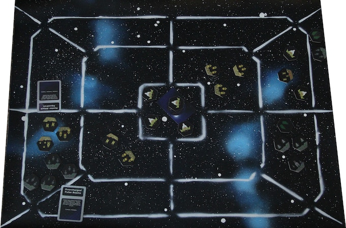 A late prototype of the Hand Painted Vinyl Mat