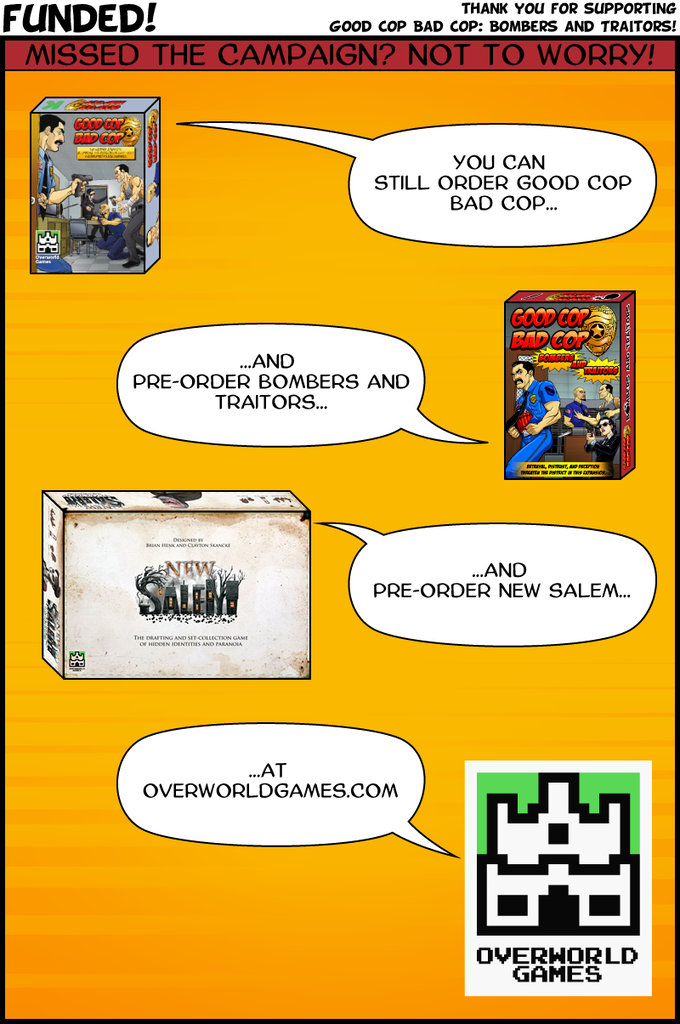 Good Cop Bad Cop Bombers And Traitors By Overworld Games Kickstarter