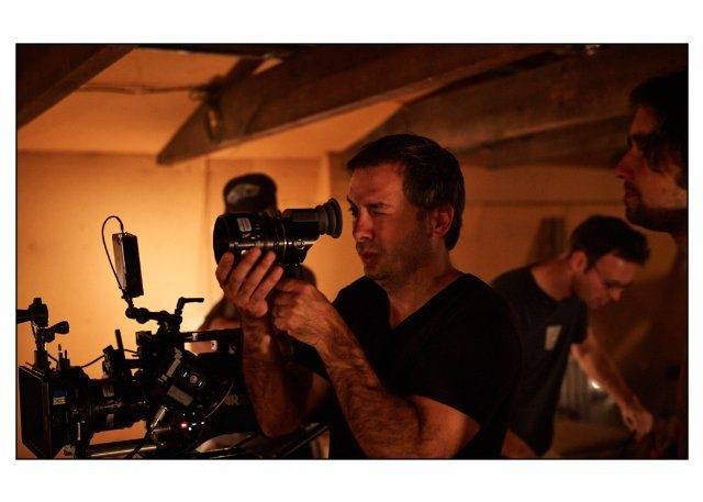 Michel behind-the-scenes on Rhymes for Young Ghouls.