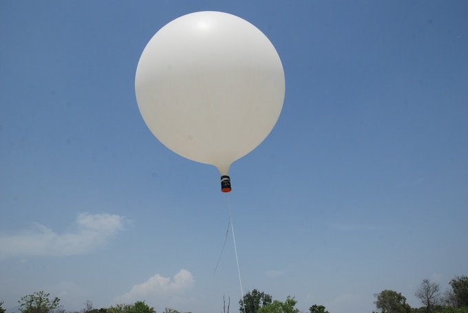 Weather balloon for near space launches