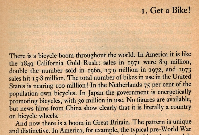 Richard Ballantine's intro from the 1975 edition of Richard's Bicycle Book