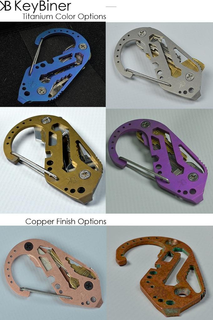 Ti and Copper Finish Options