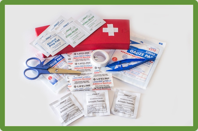 First Aid Kit for minor injuries.