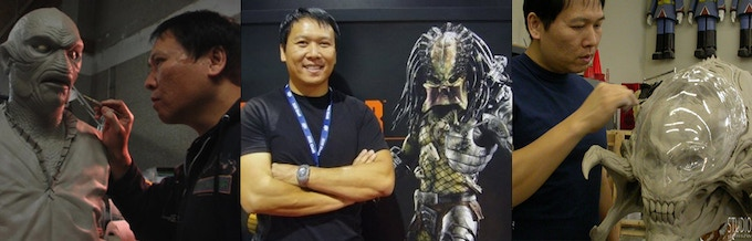 L to R: Creature from Black Lagoon; Predator (as if u didn't know); and creature from AVP Requiem