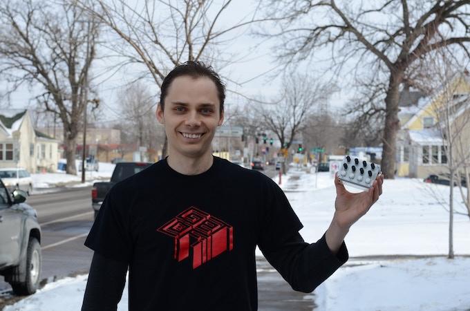 Alex Wearing a GetLoFi Black GetLoFi T-Shirt - $20 reward level