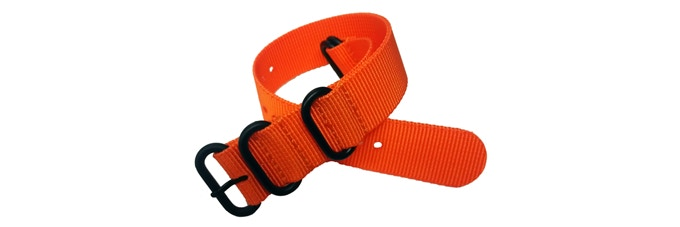 Additional Orange Military Style Nylon Strap