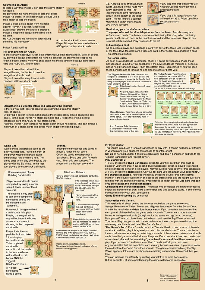Side 2 of the nearly completed rules.