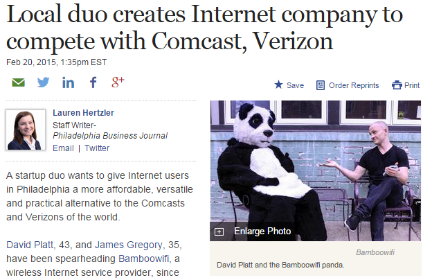 """Local duo creates Internet company to compete with Comcast, Verizon"""