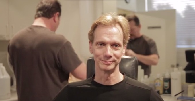 Doug Jones, au natural and sans makeup