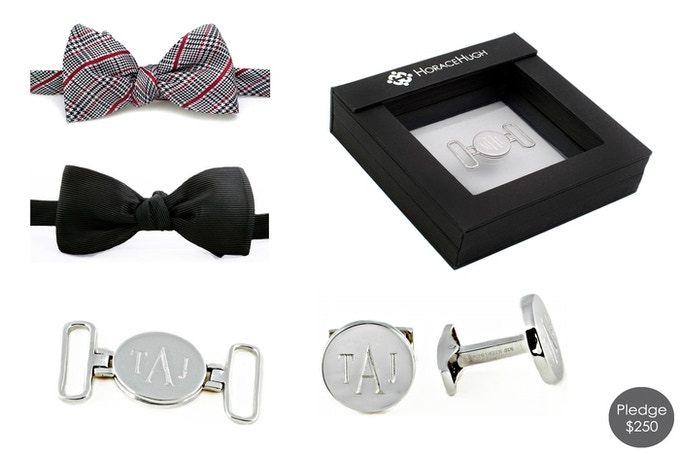 Pledge $250 and have your personal cufflinks and clasp engraved with 2 sets of tails!
