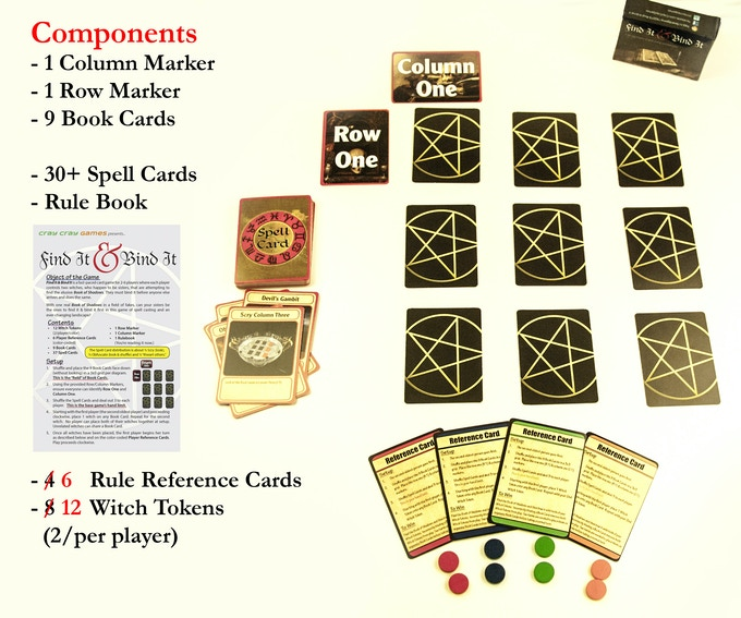 Components in the initial offering. Click for the game's rules.
