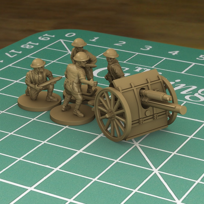 £70k Stretch Goal. Plastic British 18 pounder gun and crew