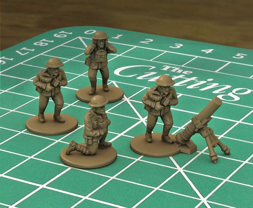 British trench mortar team