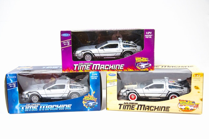 Robert Zemeckis Signed Delorean Time Machine Replicas