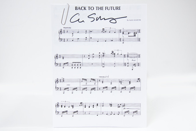 Alan Silvestri Signed Sheet Music