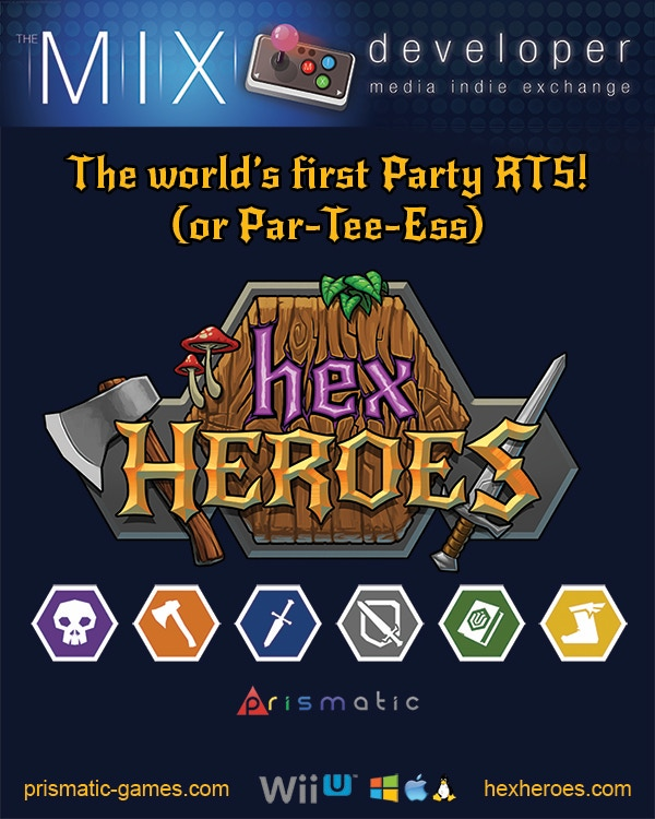 Hex Heroes - A Party RTS for Wii U/PC/Mac/Linux by Prismatic Games