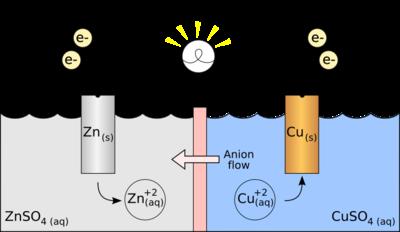 A potato acts as a galvanic cell.