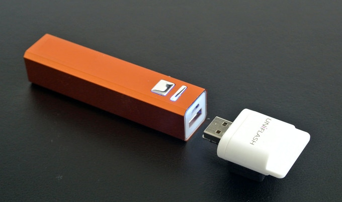 2,500 mAh rechargeable battery with USB port to charge any mobile device