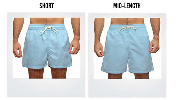 Choose between two lengths: short retro or mid-length bermuda.