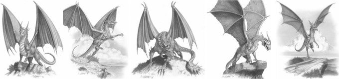 Ramlar Dragons by Larry Elmore