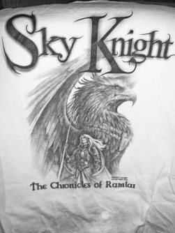 Sky Knight T-shit, Artwork by Jennifer Meyer