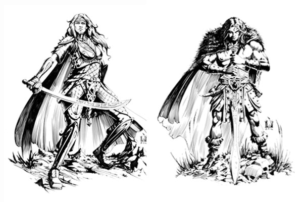 Fighter and Barbarian by David M. Wright