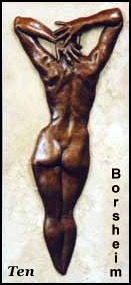 """Ten:   Approximately 11"""" x 5"""" x 1""""; female figure in bas relief"""
