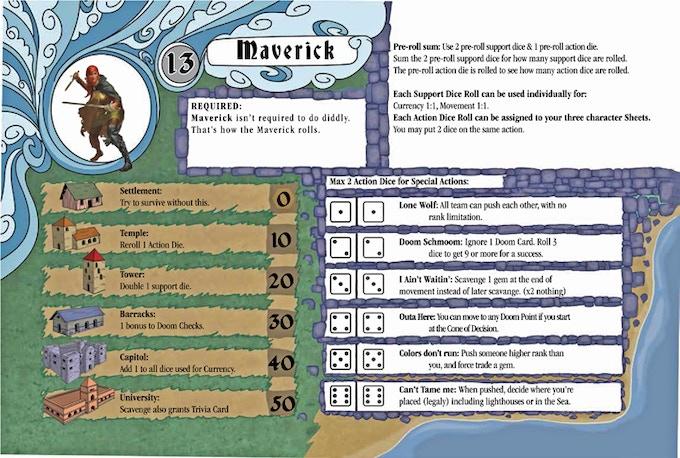 The Maverick Player Sheet