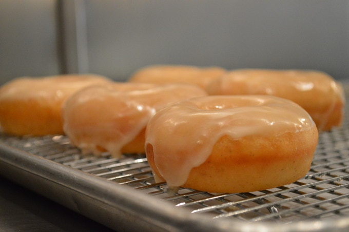 our brioche doughnuts with whiskey glaze