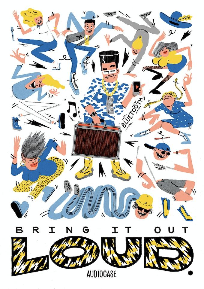The Audiocase poster reward made by artist OriginalKopi