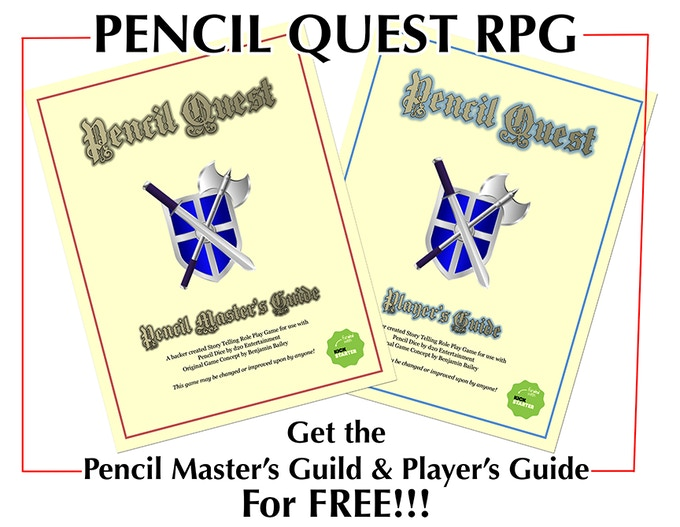 Rpg pencil dice by d20 entertainment kickstarter for Bureau 13 rpg pdf