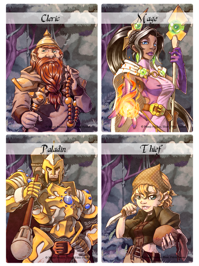 Adventurer Cards - Please note while art is final font and layout design is still to be finalized