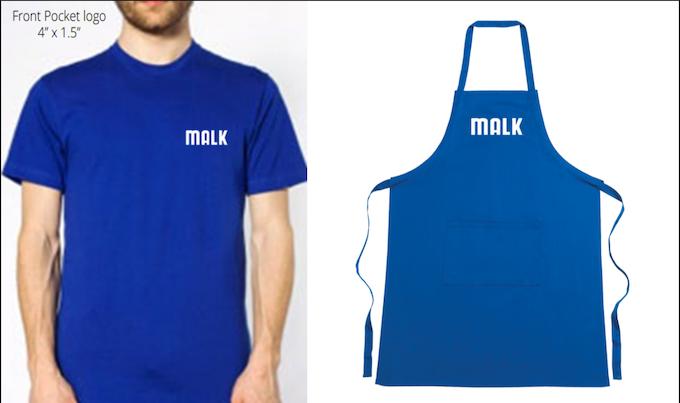 MALK American Apparrel T-Shirts and MALK Aprons!