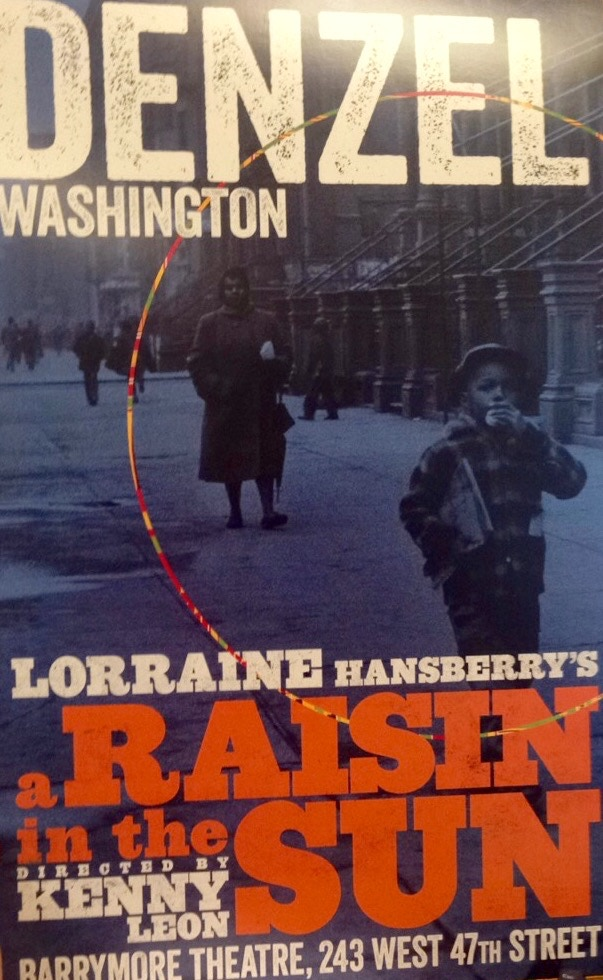 """Original Broadway poster from the 2014 revival of """"A Raisin in the Sun"""""""