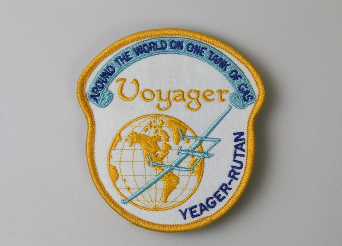 Pledge of $1,000 or more:  An original and extremely rare VOYAGER FLIGHT PATCH, this patch is 1 of 2 available that comes from Burt and Tonya's own collection.