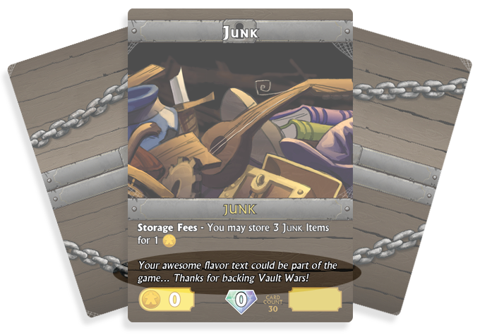 Backers help decide the flavor text for Junk cards!