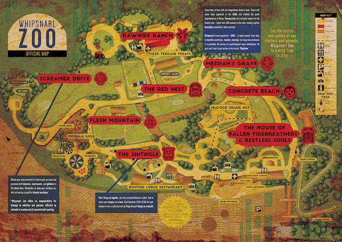 Whipsnarl Zoo map