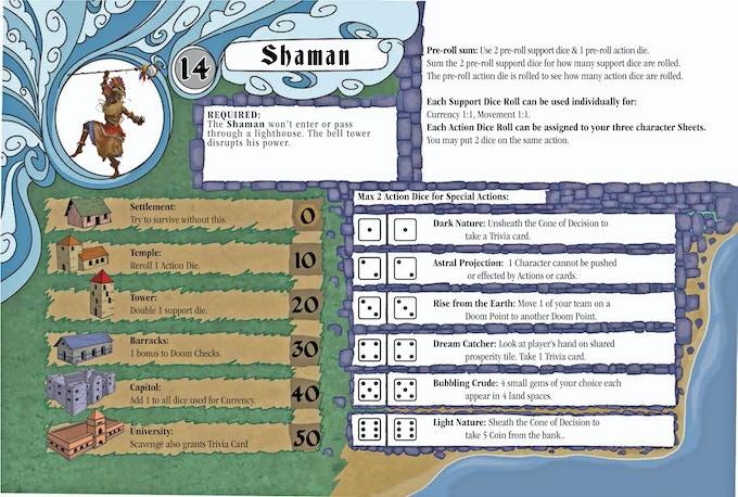The Shaman Player Sheet