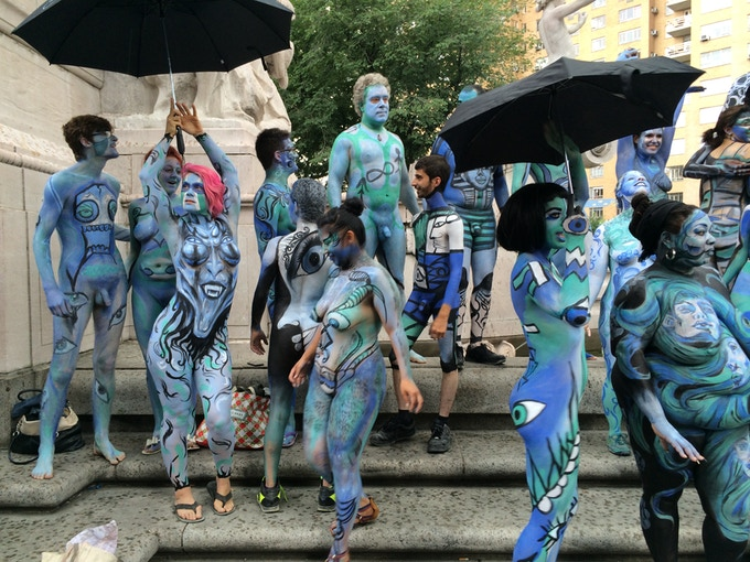 Bodypainting day 2015 for Body paint party city