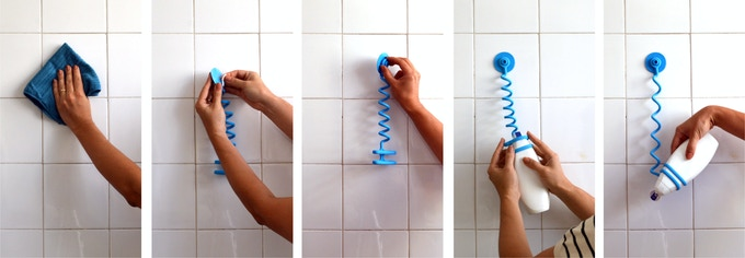 Bungee Bath is very easy to mount and use (and leaves no residues)
