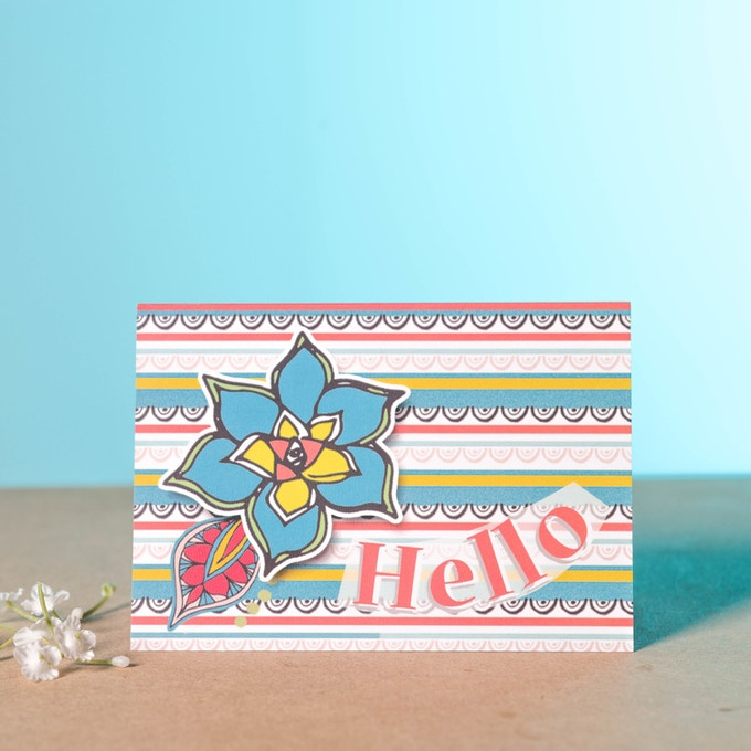 Hello Flower Lush Greeting Card
