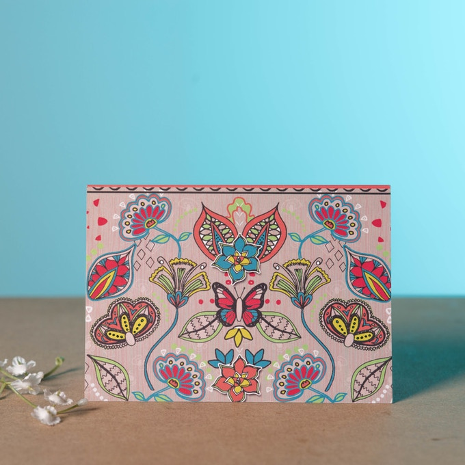 Floral Hyper Lush Greeting Card