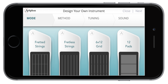 Create and play new instruments in seconds.